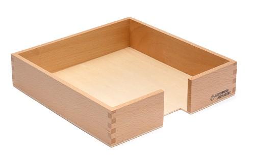 Holzkasten für 20 x 20 cm große Papierstücke