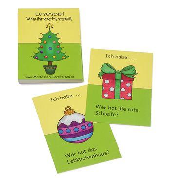 Lesespiel Weihnachtszeit
