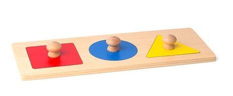 Puzzlebrett mit Quadrat, Kreis und Dreieck