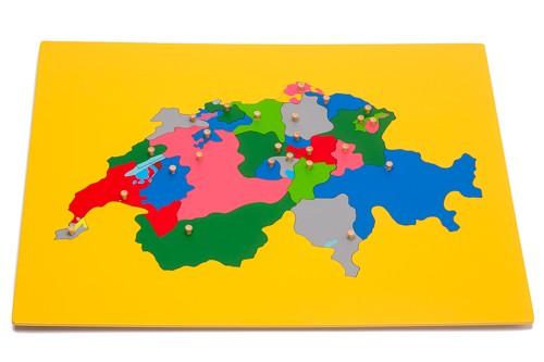 Montessori Puzzlekarte Schweiz