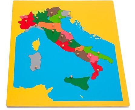 Holzpuzzlekarte Italien