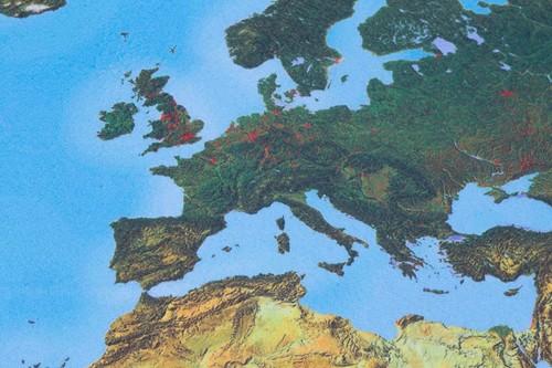 Begehbare physische Weltkarte rutschfest