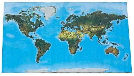 Begehbare Physische Weltkarte 180 X 110 Cm Montessori