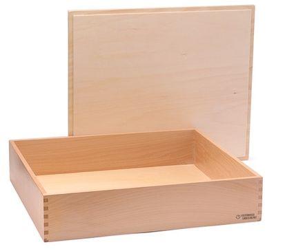 Holzbox mit Deckel, 40 x 34 x 8 cm