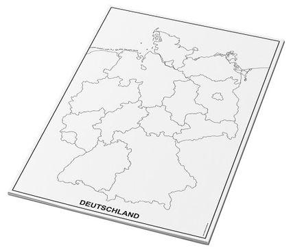 Umrisskarten Deutschland im A3-Format - Bundesländer - 25 Blatt