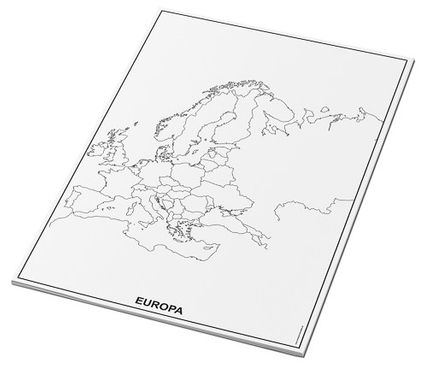Umrisskarten Europa im A3-Format - Länder - 25 Blatt