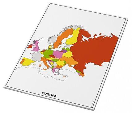 Umrisskarten Europa im A3-Format - Länder farbig - 25 Blatt