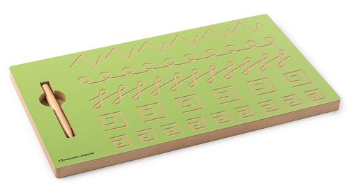 Schwungübungstafel mit Schreibübungen