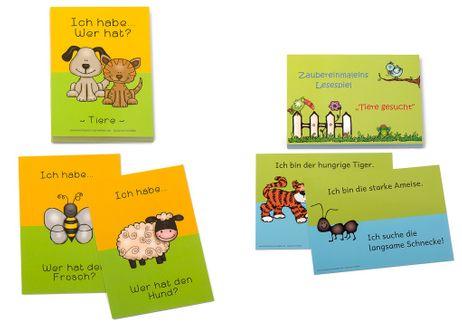 Lesespiel Tiere
