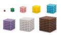 Cubi colorati di perline da 1x1x1 fino a 9x9x9 - selezionabili singolarmente