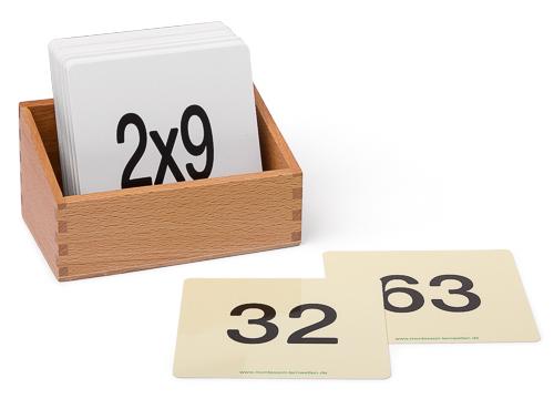Kartensatz Kleines Einmaleins 1x1 für den Hunderterteppich