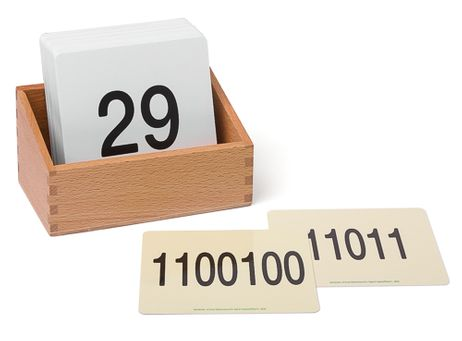 Kartensatz Binäre Zahlen für den Hunderterteppich