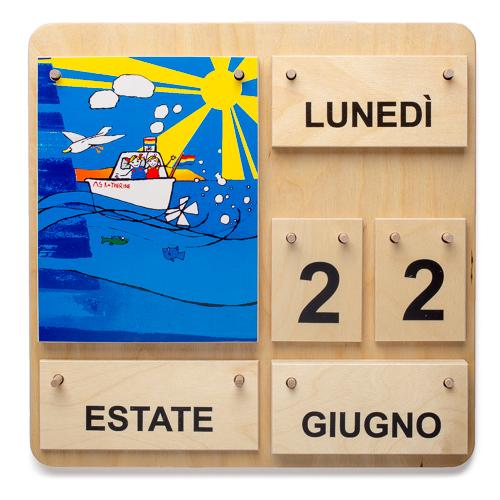 Calendario Legno Bambini.Calendario Per Bambini Italiano Calendario Di Legno Materiale Montessori It Il Negozio Per I Materiali Montessori Materiali Di Perle