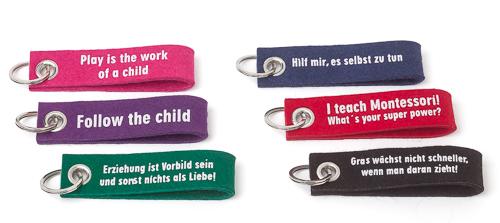 Montessori-Schlüsselanhänger