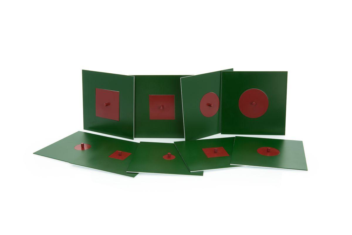 eingeschriebene und konzentrische figuren aus metall montessori material mathematik. Black Bedroom Furniture Sets. Home Design Ideas