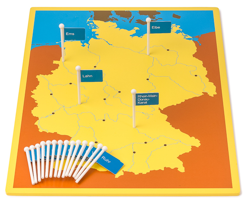 Fiumi Germania Cartina.Mappa Tascabile Fiumi Della Germania Materiale Montessori It Il Negozio Per I Materiali Montessori Materiali Di Perle Matematica Materiali Sensoriali