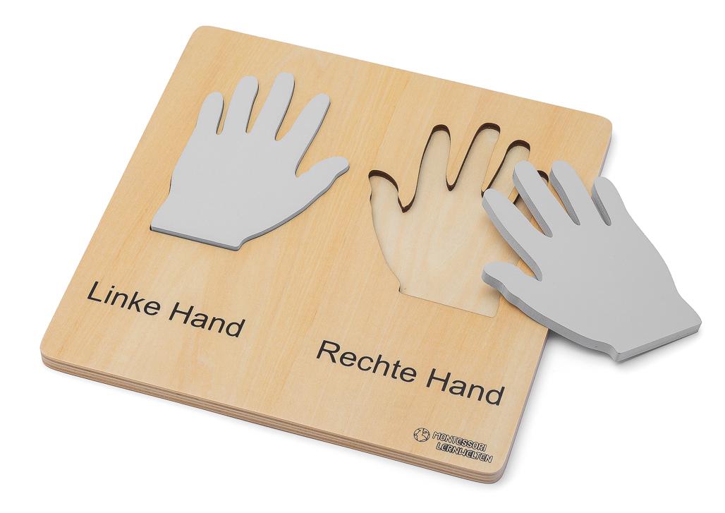 Holztafel linke und rechte Hand