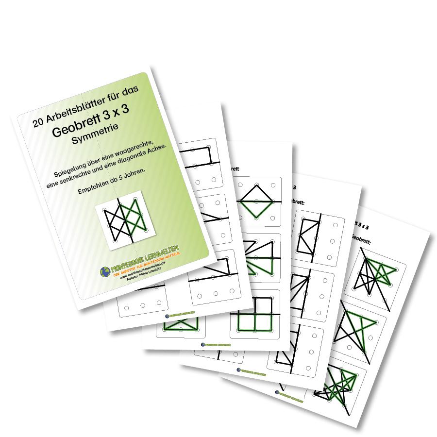 20 Arbeitsblätter für das Geobrett 3x3