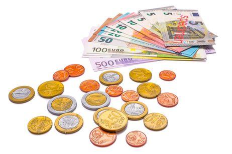 Euro-Rechengeld - Spielgeldsatz mit 22 Scheinen und 22 Münzen