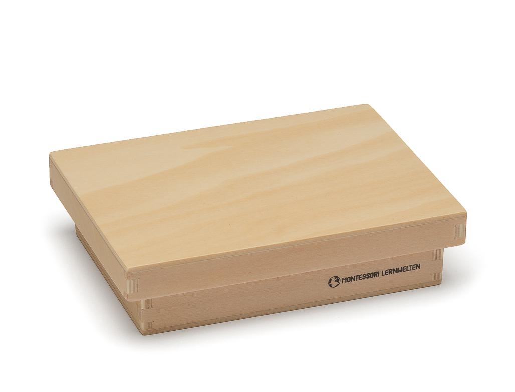 Holzkiste mit Deckel, 13 x 9 x 3,5 cm