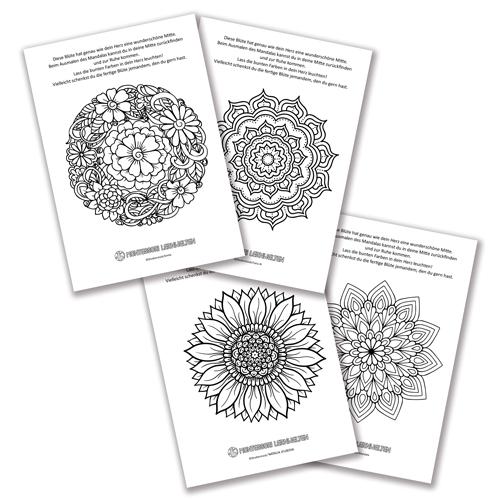 10 Mandala-Malvorlagen