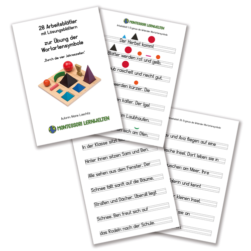 Arbeitsblätter zu den Wortartensymbolen