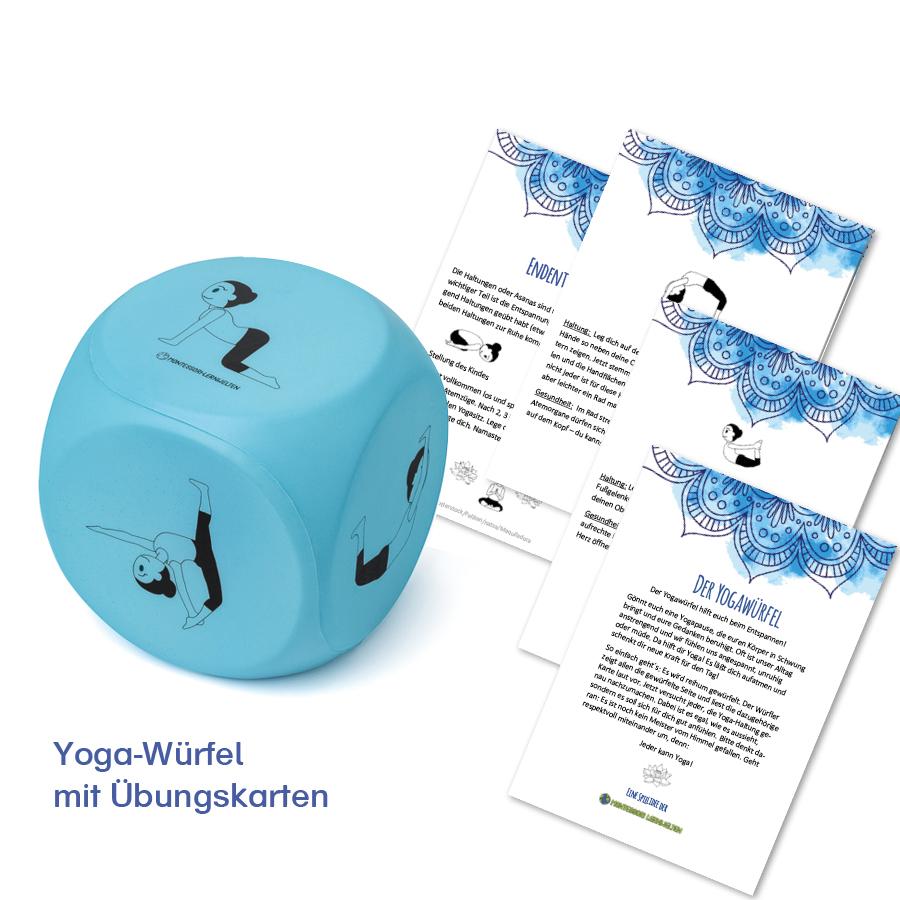 Yoga-Würfel mit Übungskarten als Gratis-Download