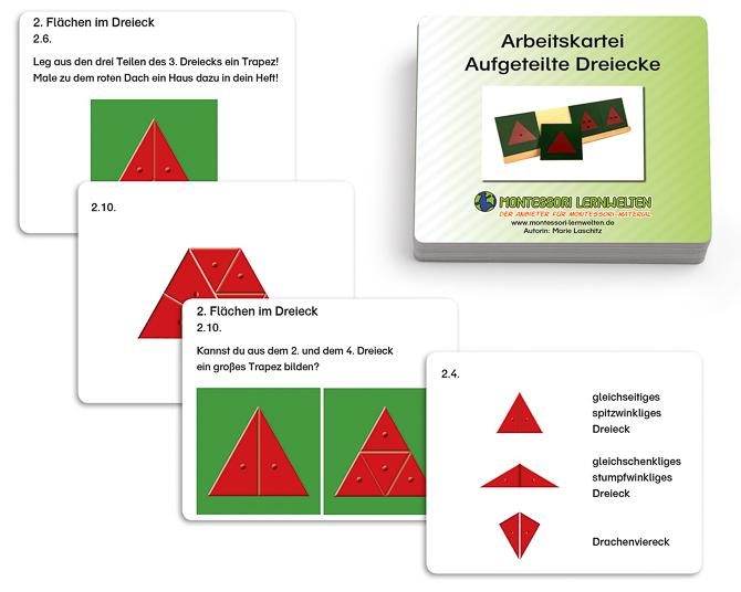 Arbeitskartei Aufgeteilte Dreiecke