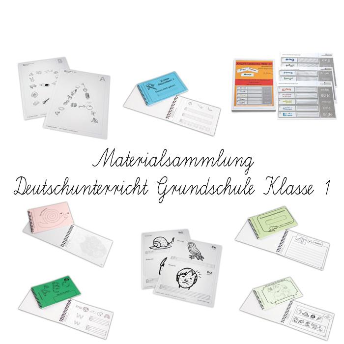 Sparset Arbeitsblätter und Übungsaufgaben - ABC und Erste Wörter Grundschule Klasse 1