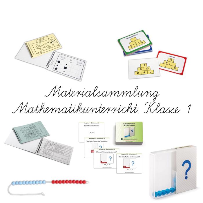 Materialpaket Mathematik Klasse 1 – Übungsaufgaben, Arbeitsblätter und Lernspiele