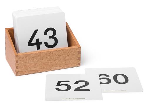 Kartensatz Zahlen 1 bis 100 für den Hunderterteppich