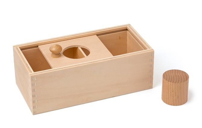 Schiebedeckelbox mit Holzzylinder