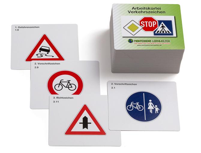 Arbeitskartei Verkehrszeichen