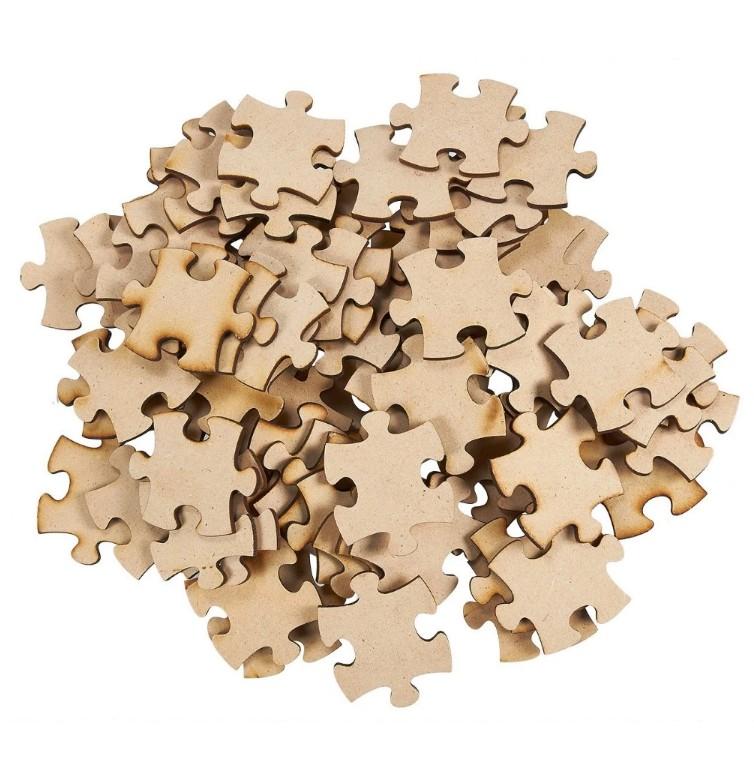 100 Blanko-Puzzleteile