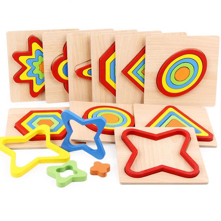 9 farbenfrohe Rahmenpuzzle
