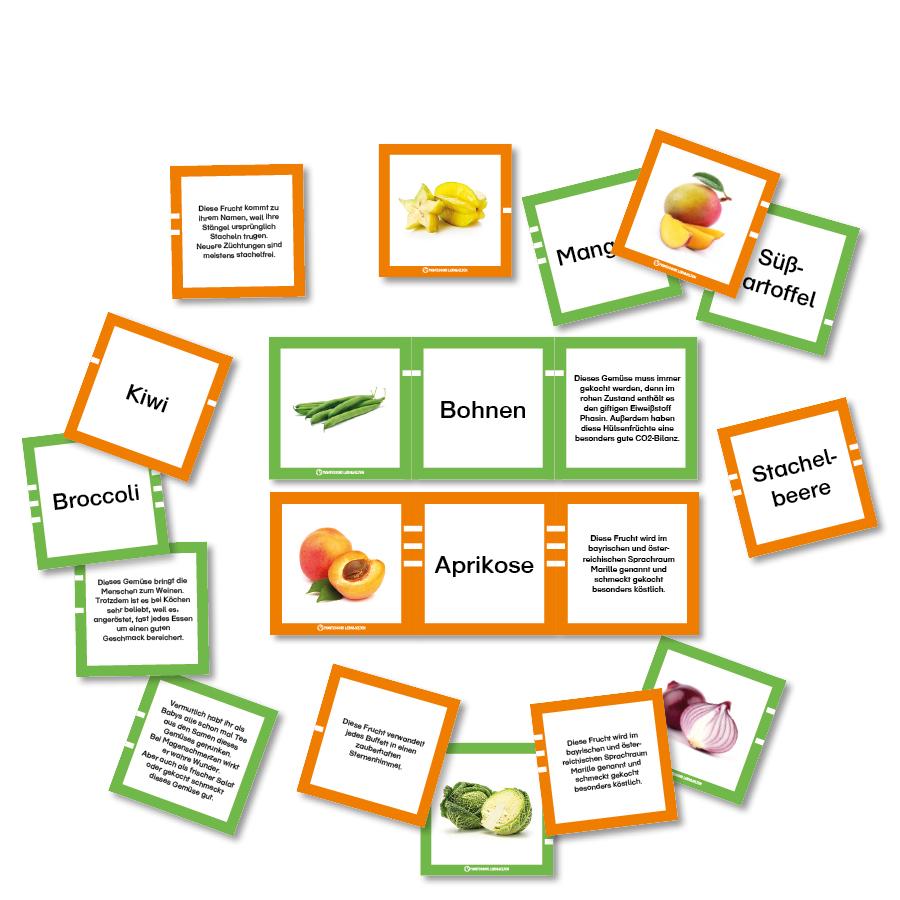 Legematerial Obst und Gemüse
