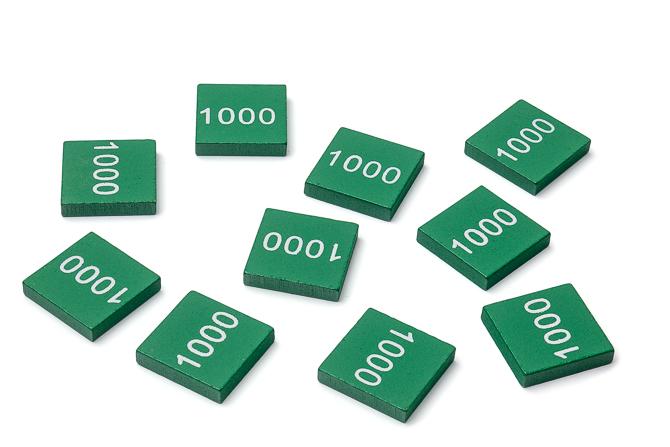 Tausender-Ersatzmarken für das Markenspiel