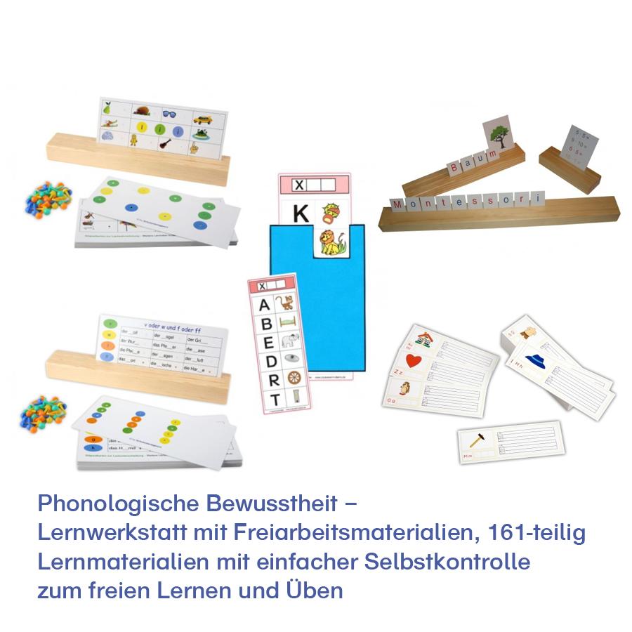 Phonologische Bewusstheit – Lernwerkstatt mit Freiarbeitsmaterialien
