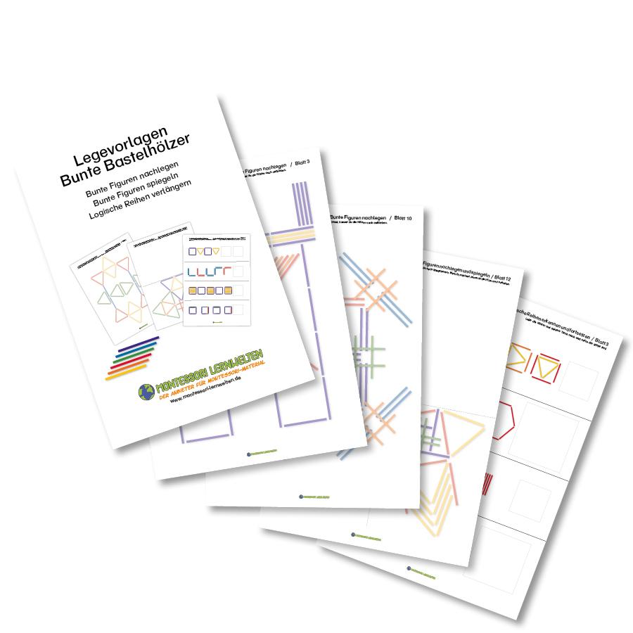 30 Arbeitsblätter Bunte Streichhölzer