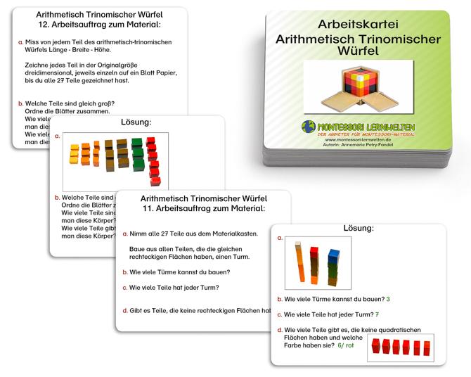 Arbeitskartei arithmetisch-trinomischer Würfel