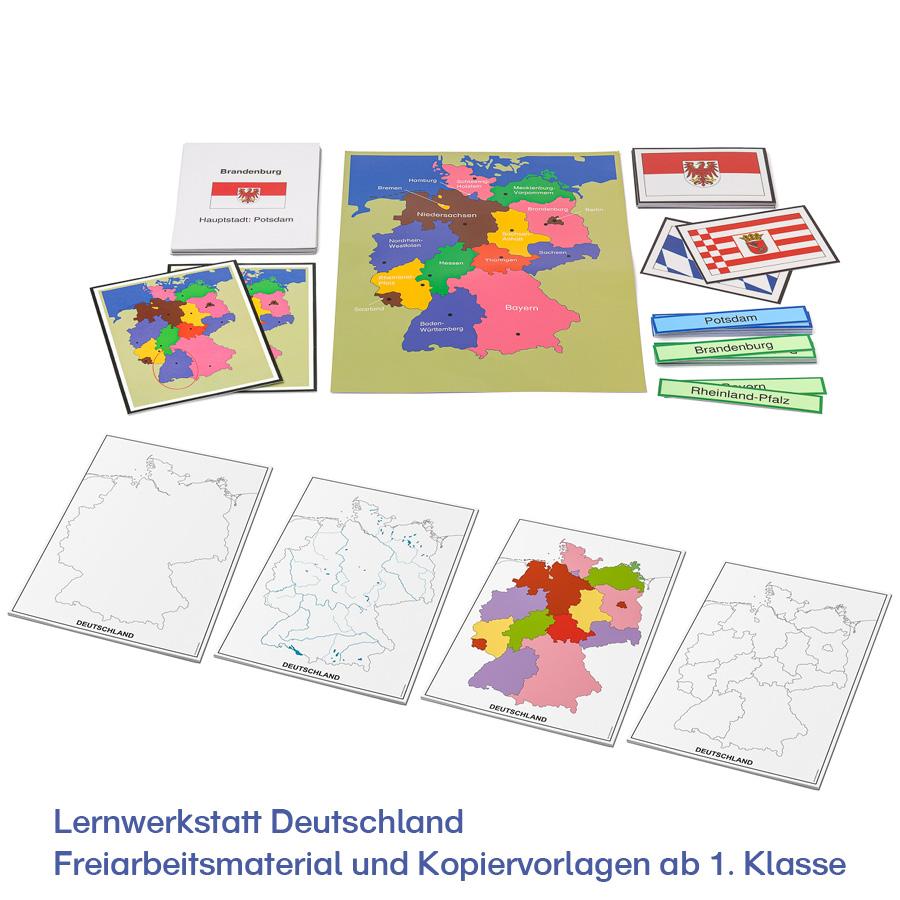 Lernwerkstatt Deutschland – Freiarbeitsmaterial und Kopiervorlagen ab 1. Klasse