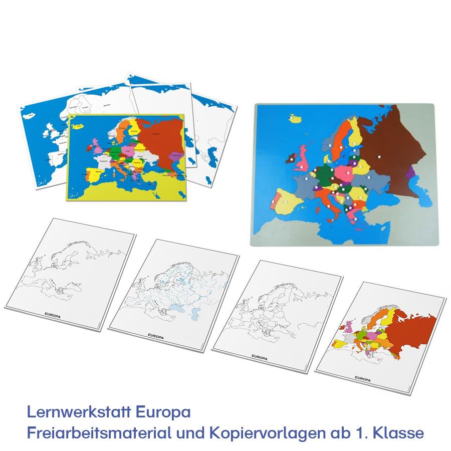 Lernwerkstatt Europa – Freiarbeitsmaterial und Kopiervorlagen ab 1. Klasse