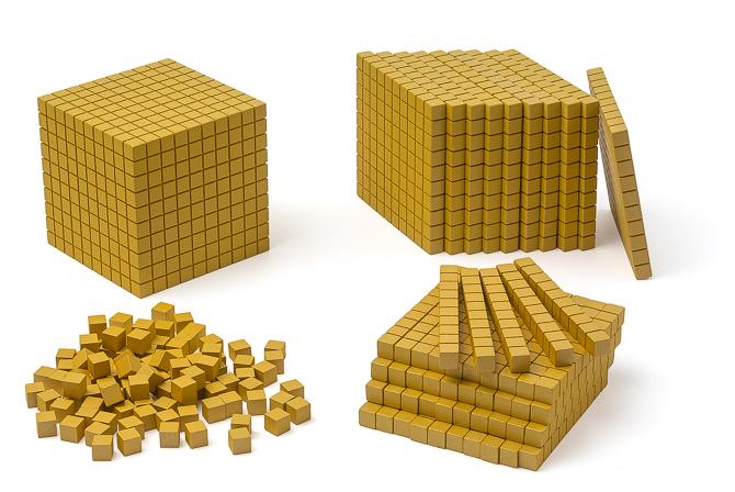 Goldenes Würfelmaterial