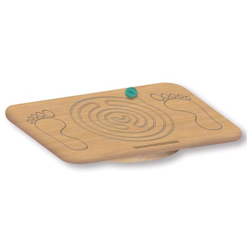 Balance Board aus Holz mit Labyrinth