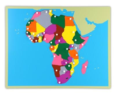 Große Montessori Puzzlekarte Afrika