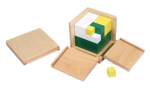 Würfel für Potenzen mit 2 - Montessori Mathematik