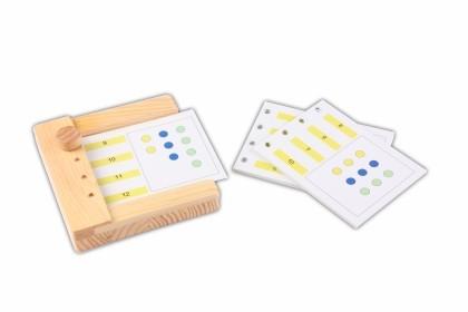 Zusatzmaterial zum Stöpselkasten: Menge-Zahl-Zuordnung