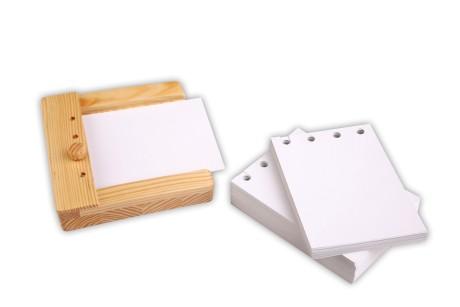 Zusatzmaterial zum Stöpselkasten: 100 Blanko-Einschubkarten