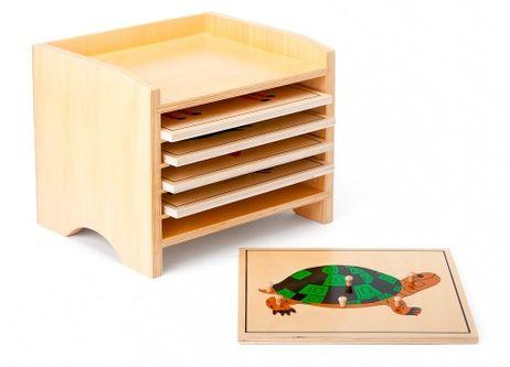 Kasten mit Tierpuzzles