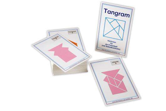 aufgabenkarten für das tangram  geometrische formen und